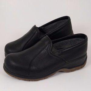 Dansko 38 Black Leather Slip on Comfort Shoes work